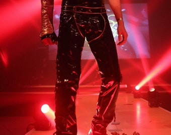 PVC Circus Gladiator Chaps Pants