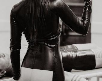 ANATOMY - Latex Window Dress - see through back