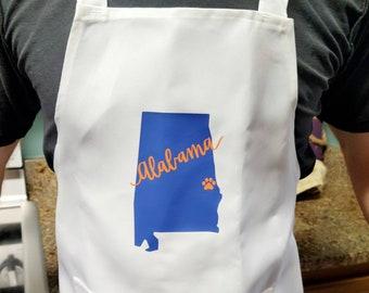 Alabama Auburn apron in black or white