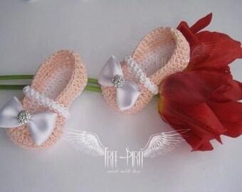 Crochet baby ballerina shoes * Baby booties * Baby shoes * Newborn booties *Baby slippers * HOT SALE!!! 20% OFF!!!