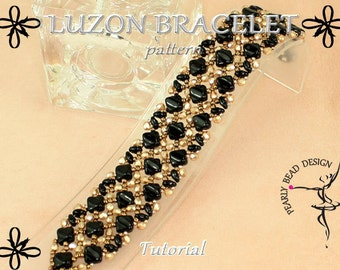 LUZON BRACELET with Silky beads pattern tutorial