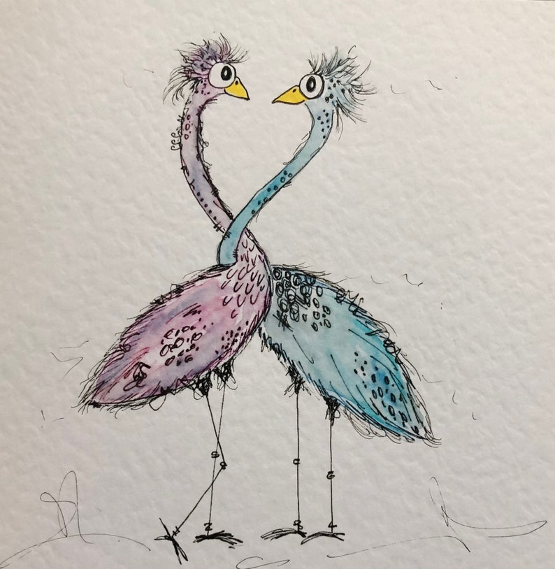 Quirky Love Birds