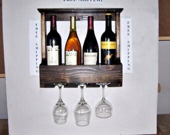 Wall Mounted Wooden Wine Rack, Wine Rack, Wine Shelf, Wine Storage