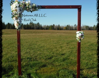 Wedding Arch Arbor Rustic Complete Kit Indoors Or Outdoors Country Backdrop Red Oak Shipping Included