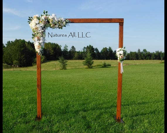 Wedding Arch/Wedding Arbor/Rustic Wedding Arch/Complete Kit/ Indoors Or Outdoors/Country Wedding Backdrop/Provincial/Shipping Included