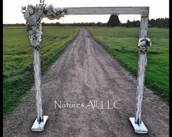 Wedding Arch Arbor Rustic Complete Kit Indoors Or Outdoors Country Backdrop Distressed White Shipping Included