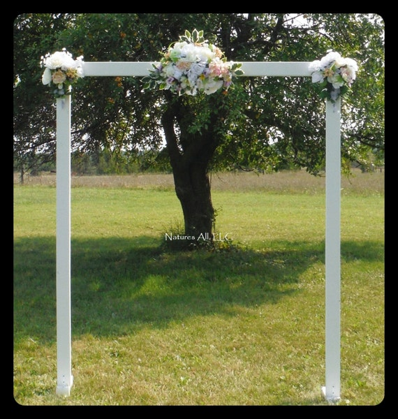 Wedding Arch/Wedding Arbor/Rustic Wedding Arch/Complete Kit/ Indoors Or Outdoors/Country Wedding Backdrop/White/Shipping Included
