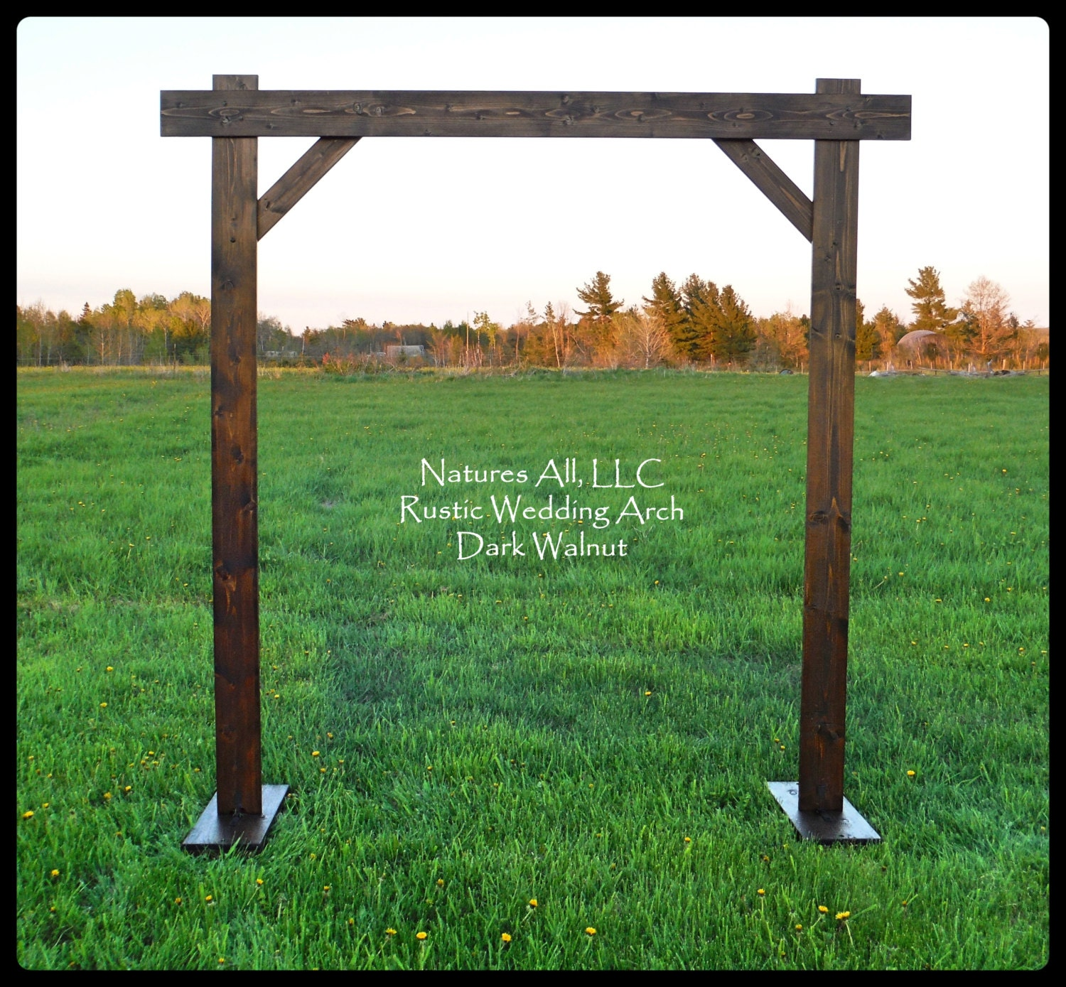Diy Wedding Wood Arch: Wedding Arch/Wedding Arbor/Rustic Wedding Arch/Complete