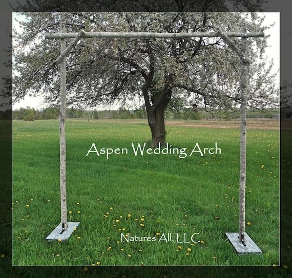 Aspen Wedding Arch/Aspen Arbor/Rustic Aspen Wedding Arch/Complete Kit For Indoor Or Outdoor Weddings/Rustic Wedding Backdrop