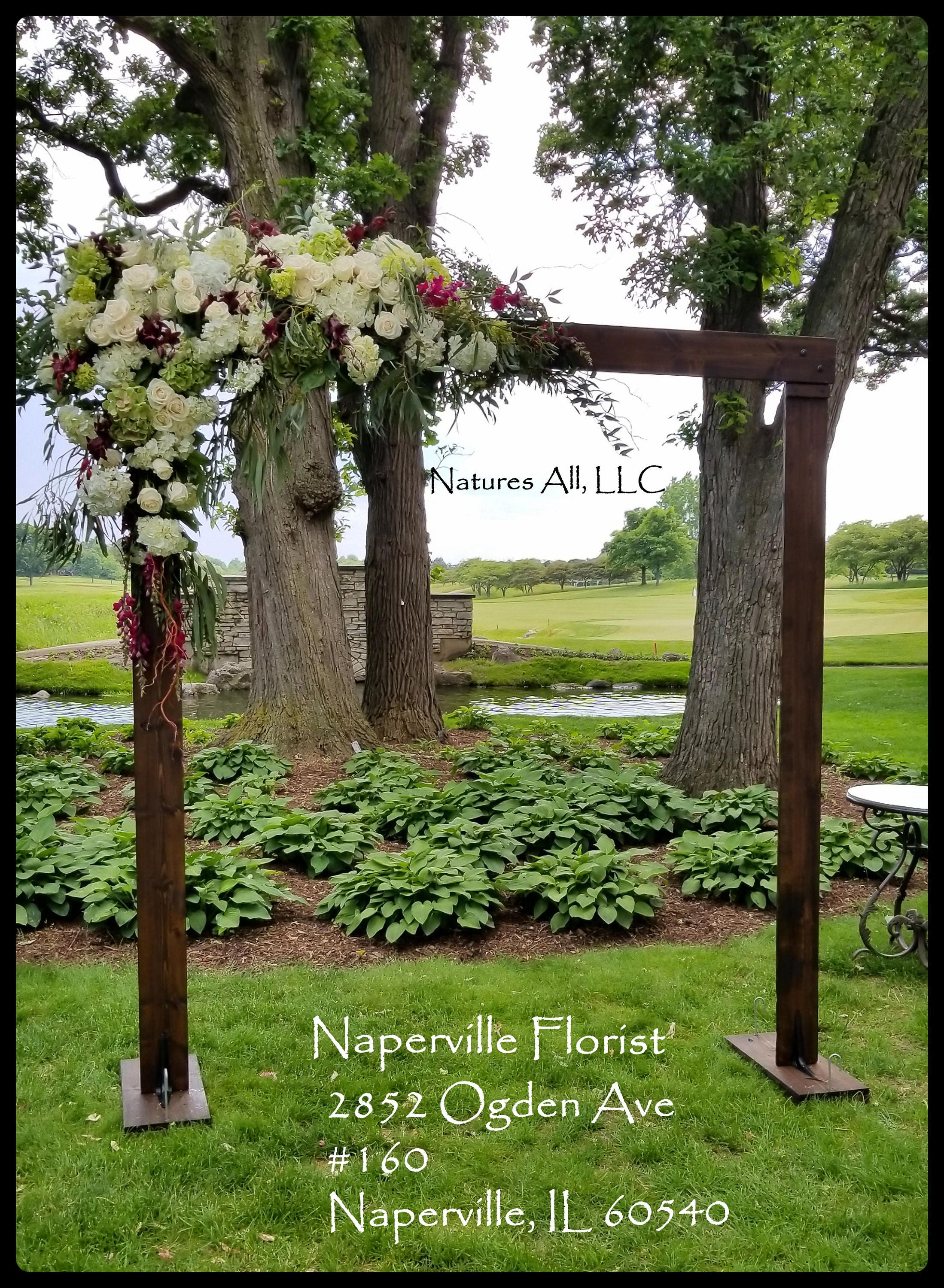 Wedding Arch Arbor Rustic Complete Kit Indoors Or Outdoors Country Backdrop Dark Walnut Shipping Included