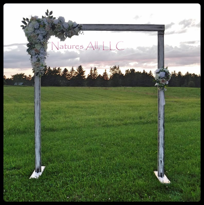 Rustic Wedding Arch.Wedding Arch Wedding Arbor Rustic Wedding Arch Complete Kit Indoors Or Outdoors Country Wedding Backdrop Distressed White Shipping Included