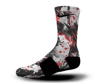 Custom Nike Elite Socks KD LeBron Kobe All Sizes HoopSwagg SNEAKER ART