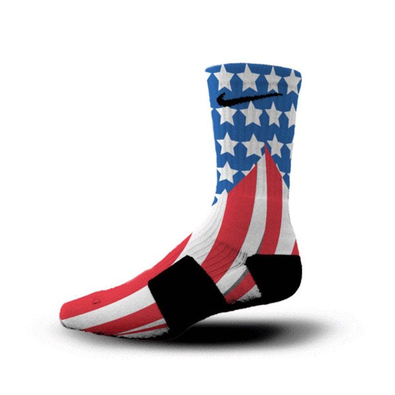 big sale 43b7e 3df8d Custom Nike Elite Socks KD LeBron Kobe All Sizes HoopSwagg OLD   Etsy