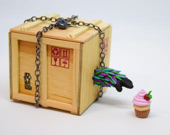 Monster in a box, diet fail, gift for her, gift for him, funny gift, cupcake, fitness gift