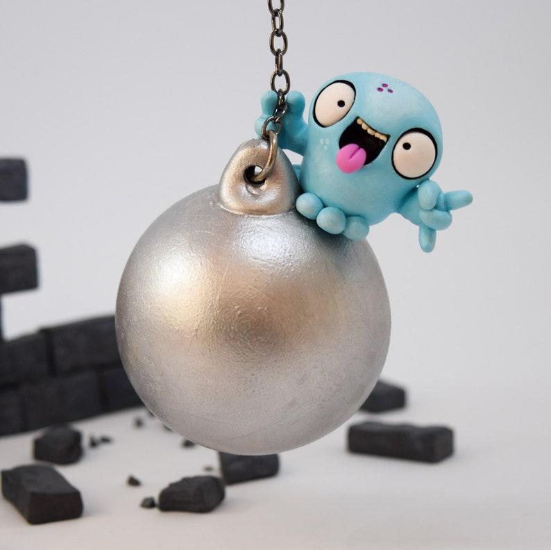 Alternative Christmas Decoration Wrecking Ball Christmas Tree Ornament