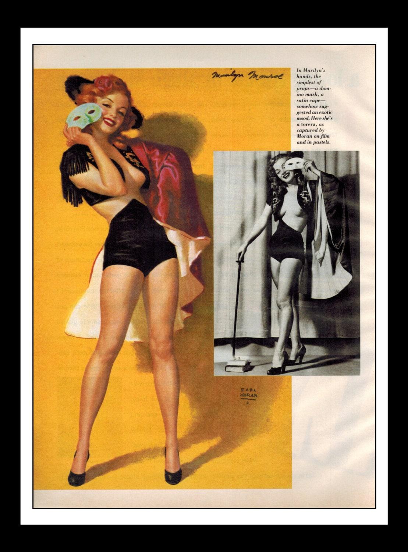 Playboy Vintage Pinup December 1987 Marilyn Monroe Sexy -4400