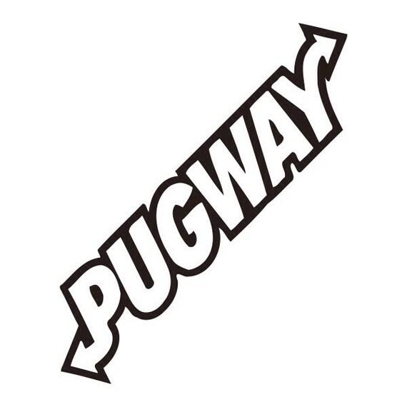 Pugway Chien Voiture Véhicule Autocollant Drôle Humour Sexy Coquine Rude Van Moto Bateau Mur Portable Ipad Animaux Chien Adulte