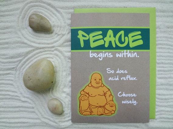 Carte Danniversaire Joyeux Drôle Humour Zen Bouddhiste Carte De Voeux De Spiritualité Orientale Paix
