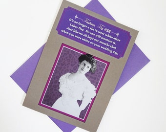 Labor Day | Funny Birthday Card For Her – Vintage Fashion – Sassy Humor – Girlfriend Card