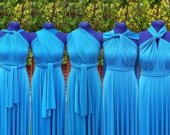 Teal Blue Bridesmaid Dresses