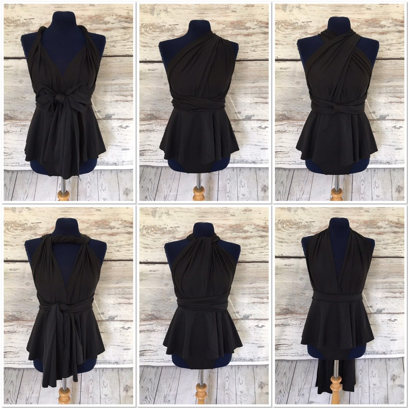 ee8793fea22d4 Peplum Swimsuit Multiway Infinity Swimsuit Black High Waisted