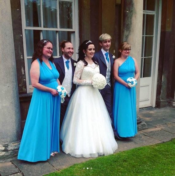 Turquoise Bridesmaid Dress Infinity Dress Wedding Dress  cd88b0205925