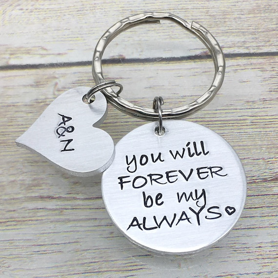 Valentine S Day Keychain Forever Be My Always Husband Etsy