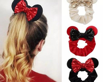 Holiday Santa Mickey Mouse Scrunchie