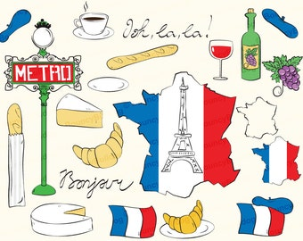 french cheese map etsy rh etsy com French Cuisine Clip Art France Food Clip Art