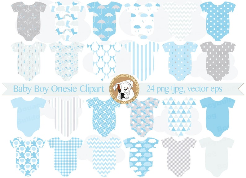 94dbea09c Baby boy blue onesies clipart baby shower invitation baby