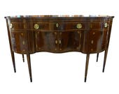 Ernest Hagen New York Federal Style Inlaid Mahogany Sideboard