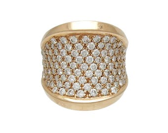 Fabulous 18K Rose Gold Pave Diamond Ring