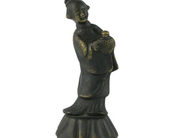 19th Century Chinese Bronze Of A Woman