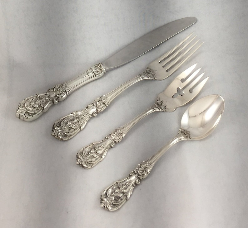 s Classic Rose by Reed /& Barton Sterling Silver Flatware Place Setting 4pc