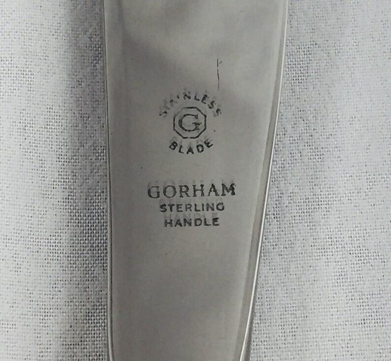 6 58 Camellia by Gorham Sterling HH Master Butter  Spreader