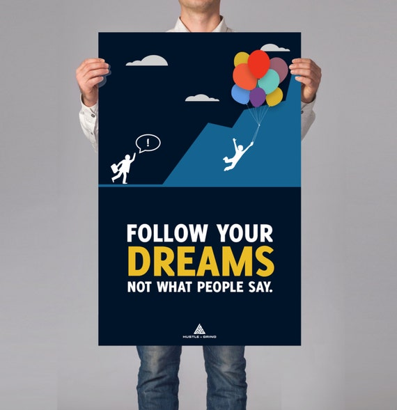 Follow Your Dreams Inspirational Art Business Or Office Etsy