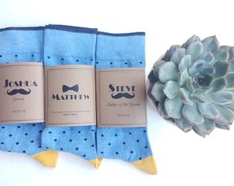 Personalized Sock LABELS - Groomsmen Socks - Best Man Socks - Custom Printed Sock LABELS - Groomsmen Gifts / Kraft Labels