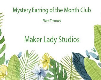 Mystery Box Earring of the Month Club  Subscription- Plant Theme