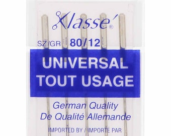 2 kits, KLASSE,  Universal Sharps,  Needles,  Cassette,  Size 80/12, 5 count