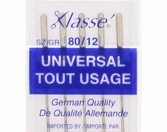 KLASSE,  Universal Sharps,  Needles,  Cassette,  Size 80/12, 5 count
