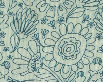 Flower, blue, 18510, Robert Kaufman, cotton, cotton quilt, cotton designer