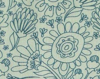 Flower, blue, 18510, Robert Kaufman, cotton, cotton quilt, cotton designer