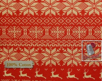 END OF BOLT, Nordic Christmas, Windham Fabrics, 41315, multiple quantity cut in one piece, 100% Cotton