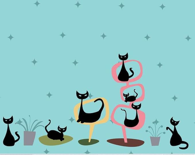 Featured listing image: Border, Black Cat, Cottage, Mod Meow, 10286, Riley Blake, cotton quilt, cotton designer, (Reg 3.76-21.91)