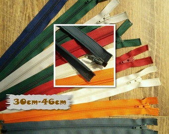 Zipper, SEPARABLE, nylon, 30cm, 31cm, 36cm, 37cm, 40cm, 46cm, clothes, creation, ZG3046, (Reg 3.99-4.99)
