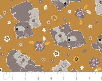 Mama & me, Woodland, 9140603, col 3, Camelot Cotton, bears, multiple quantity cut in one piece, 100% Cotton
