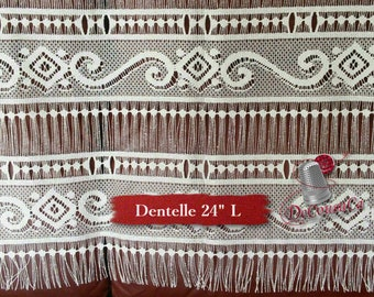 "Lace for door, ivory, 24"" (60cm), NO NEED for COUTURE, polyester, washable, decorative, (Reg 22.49-41.69)"