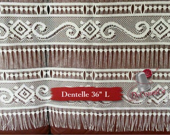 "Lace for door, ivory, 36"" (90cm), NO NEED for COUTURE, polyester, washable, decorative, (Reg 33.59-52.89)"