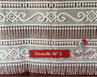 "Lace for door, ivory, 36"" (90cm), NO NEED for COUTURE, polyester, washable, decorative,"