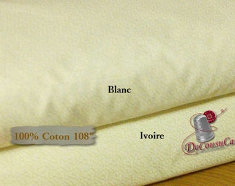 "108 ""wide, Leaf, ideal for quilting undergarments, Camelot Fabrics, 100% cotton, quilting cotton, choice of ivory, white"